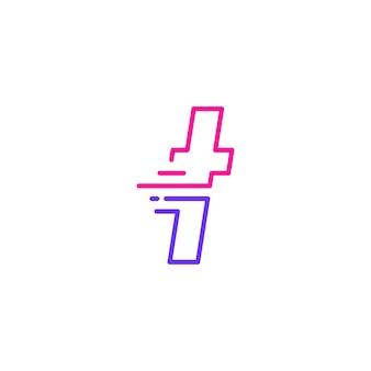 T-buchstabe strich kleinbuchstaben tech digital schnelle schnelle lieferung bewegung linie umriss monoline blaues logo vektor icon illustration