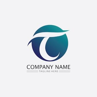 T-buchstabe, t-logo-vektor-schriftart-alphabet-design und symbol t