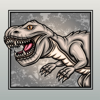 T-rex dinosaurier im alten wald.
