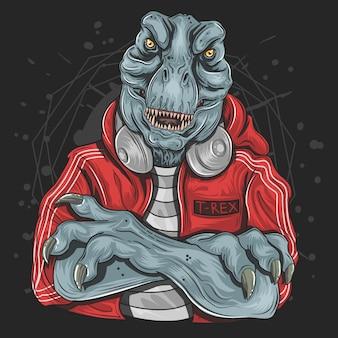 T-rex dj-musik-jockey
