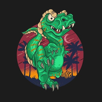 T rex niedliche dinosaurierillustration