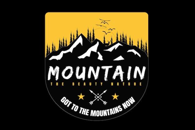 T-shirt berg flach natur schöne kiefer