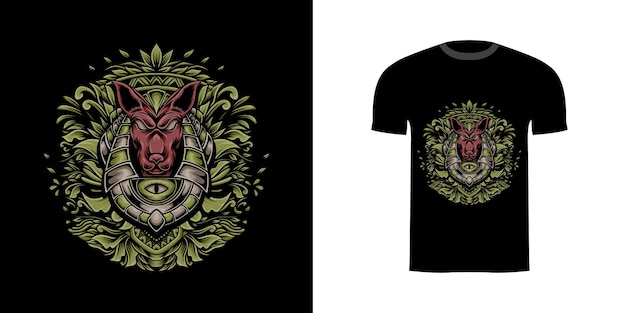 T-shirt-design anubis für t-shirt-design