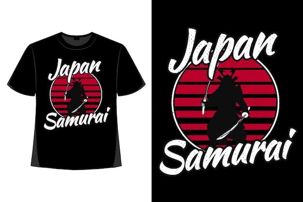 T-shirt-design der retro-vintage-illustration des japanischen schwertes