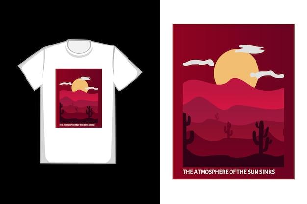 T-shirt-design die atmosphäre der sonne versinkt