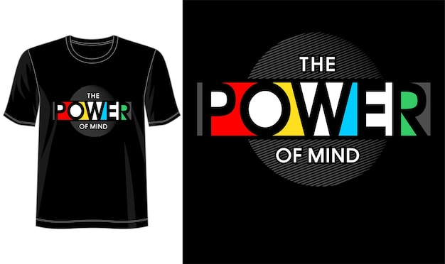 T-shirt design die kraft des geistes schriftzug typografie