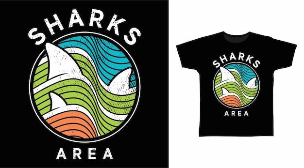 T-shirt-design im bereich haie