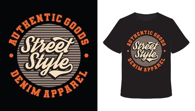 T-shirt-design im streetstyle-typografie-design
