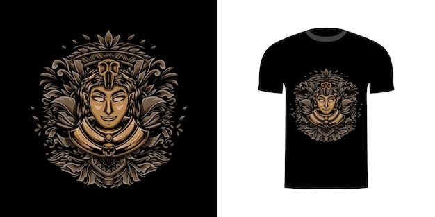 T-shirt-design-mädchen-assistent für t-shirt-design