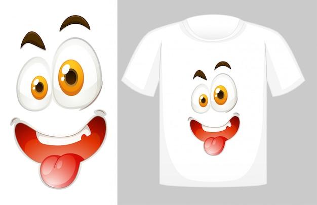 T-shirt design mit grafik vorne