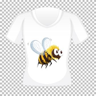 T-shirt-design mit grafik vorne
