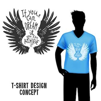 T-shirt design mit schriftzug