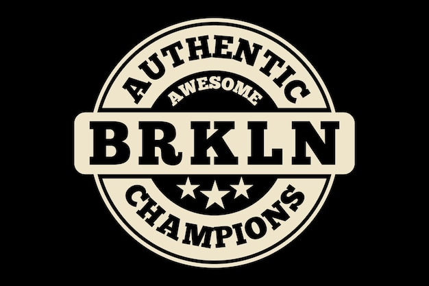 T-shirt-design mit typografie authentischer brooklyn champions vintage