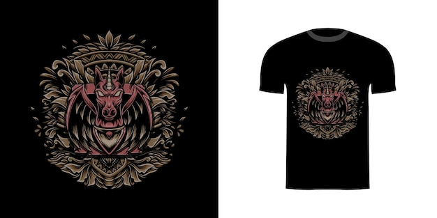 T-shirt-design pegasus für t-shirt-design