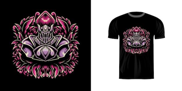 T-shirt design retro illustration krieger