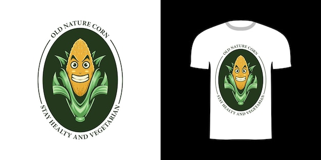 T-shirt design retro-illustration mais