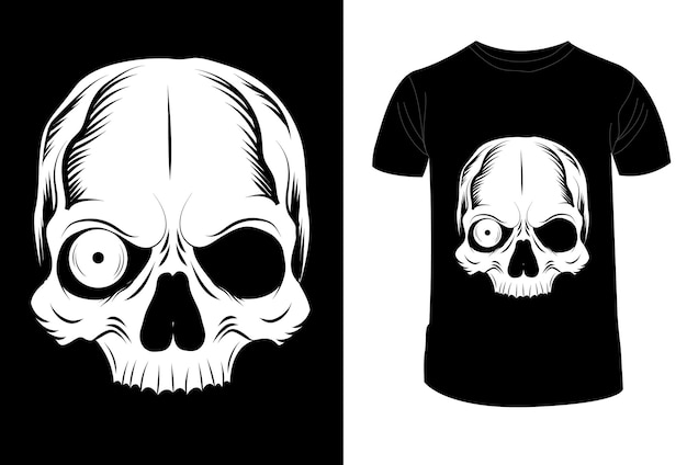 T-shirt design schädel augen vektor-illustration