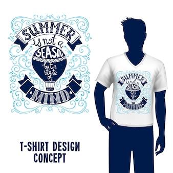 T-shirt design schriftzug