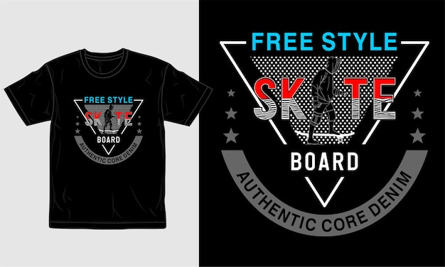 T-shirt design skateboart