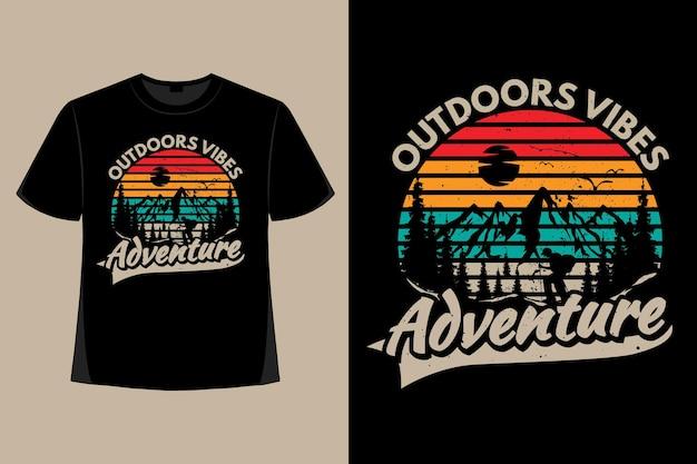 T-shirt-design von outdoor-vibes-abenteuer-kiefernberg-retro-vintage-illustration