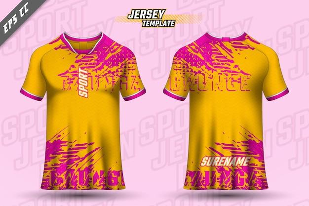 T-shirt-design vorne hinten sportdesign für den rennradsport-gaming-trikotvektor
