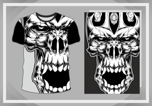 T-shirt designschädel lokalisiert