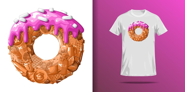 T-shirt druck von donut