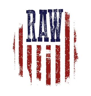 T-shirt grafikdesign mit amerikanischer flagge und grunge-textur.