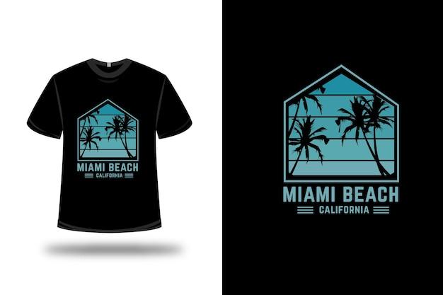 T-shirt miami beach farbe grün