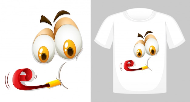 T-shirt mit lustigem gesicht