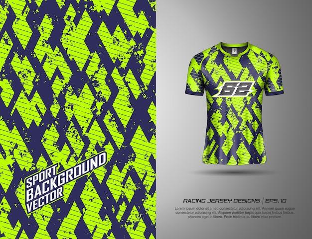 T-shirt mit modernem tarndesign für rennsport, trikot, radsport, fußball, gaming