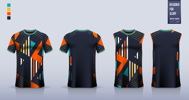 T-shirt modell. sporthemdschablonenentwurf.