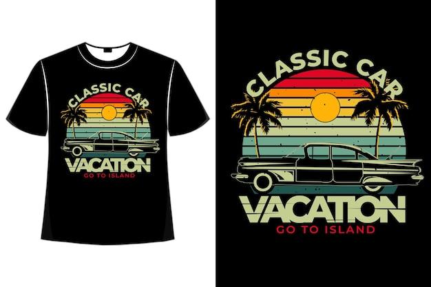 T-shirt oldtimer urlaub insel retro vintage-stil