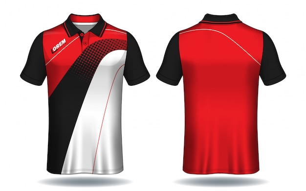 T-shirt polo-design, sport-jersey-vorlage.