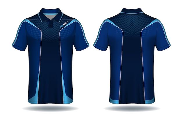 T-shirt polo design, sport trikot vorlage. Premium Vektoren