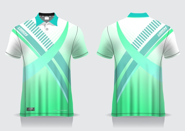 T-shirt polo für einheitliche vorlage
