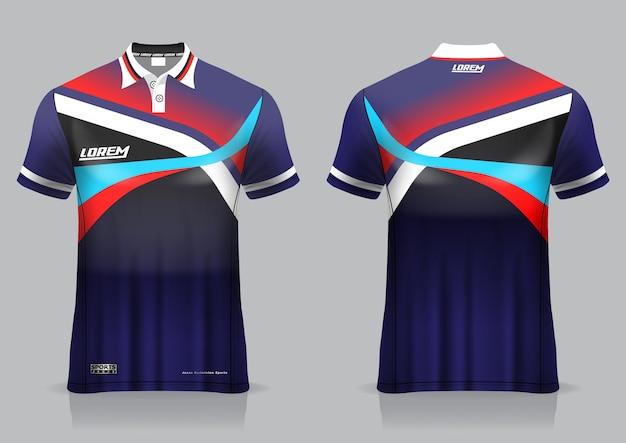 T-shirt polo sport design, badminton trikot modell für einheitliche vorlage Premium Vektoren