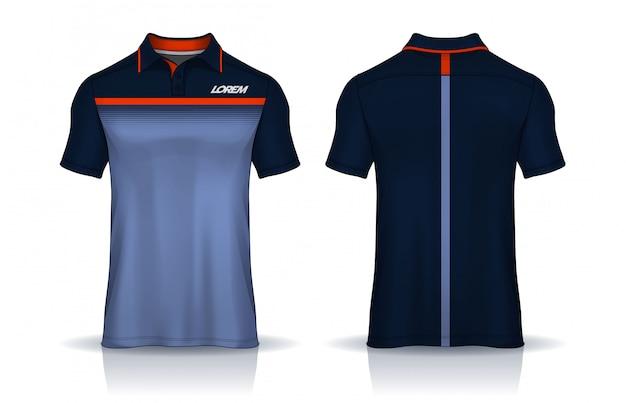 T-shirt polo vorlagen design. einheitliche vorder- und rückansicht.