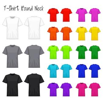 T-shirt rundhals farbkollektionsset