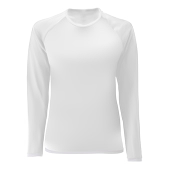 T-shirt schablone, weiße leere vorderansicht.