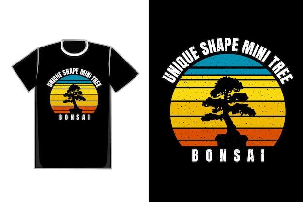 T-shirt schattenbild baum bonsai pflanzenform