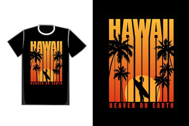 T-shirt silhouette strand gradient sonnenuntergang retro-stil