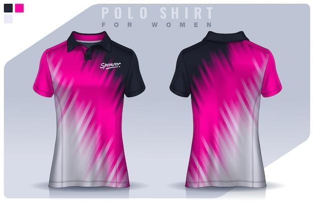 T-shirt sport design für frauen, fußballtrikot für fußballverein. polo uniform vorlage.