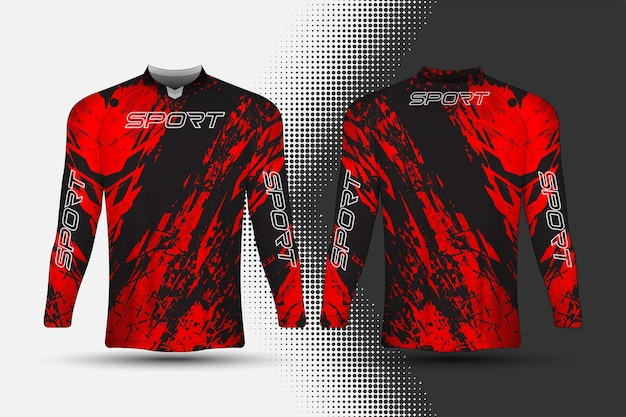 T-shirt sport-renntrikot mit abstraktem hintergrunddesign