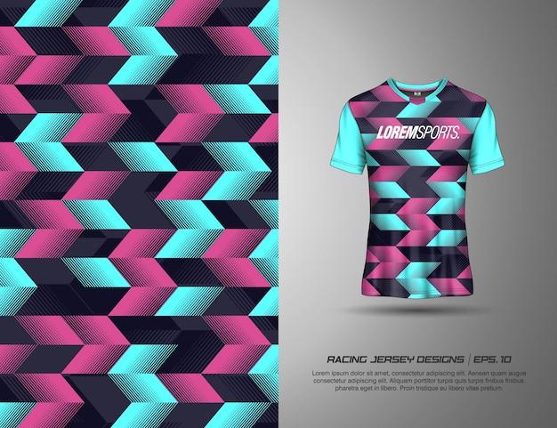 T-shirt sportdesign für rennsport, trikot, radfahren, fußball, gaming