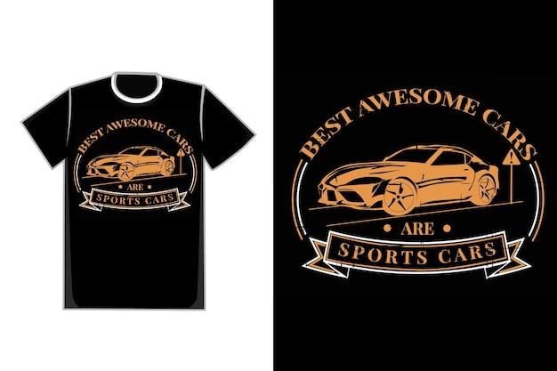 T-shirt typografie autos sportart vintage