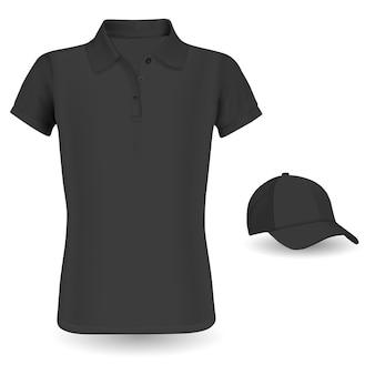 T-shirt und baseballmütze, polo-shirt