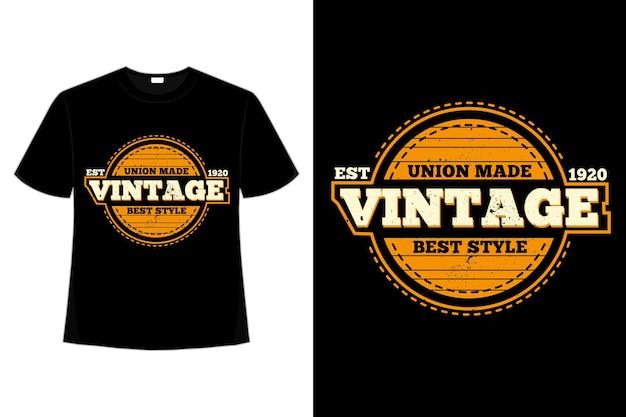 T-shirt vintage union style