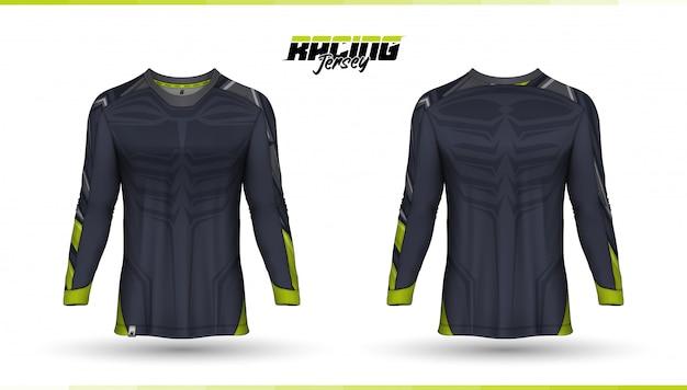 T-shirt vorlage, renn trikot design, fußball trikot