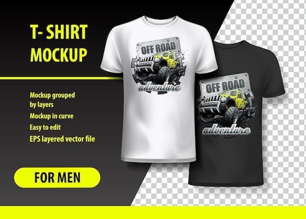 T-shirt vorlage, voll editierbar